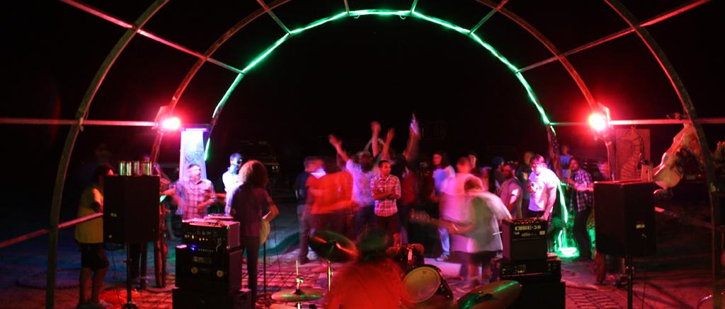 Baller's Ball, a festival outside of Green River organized with the Jenkstars
